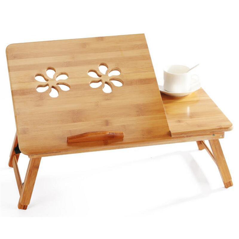 [해외]노트북 테이블 대나무 노트북 테이블 책상 조절 접이식 테이블 침대 컴퓨터 책상/Laptops Table Bamboo Laptop Table Desk Adjustable Height Folding Table Bed Computer Desk
