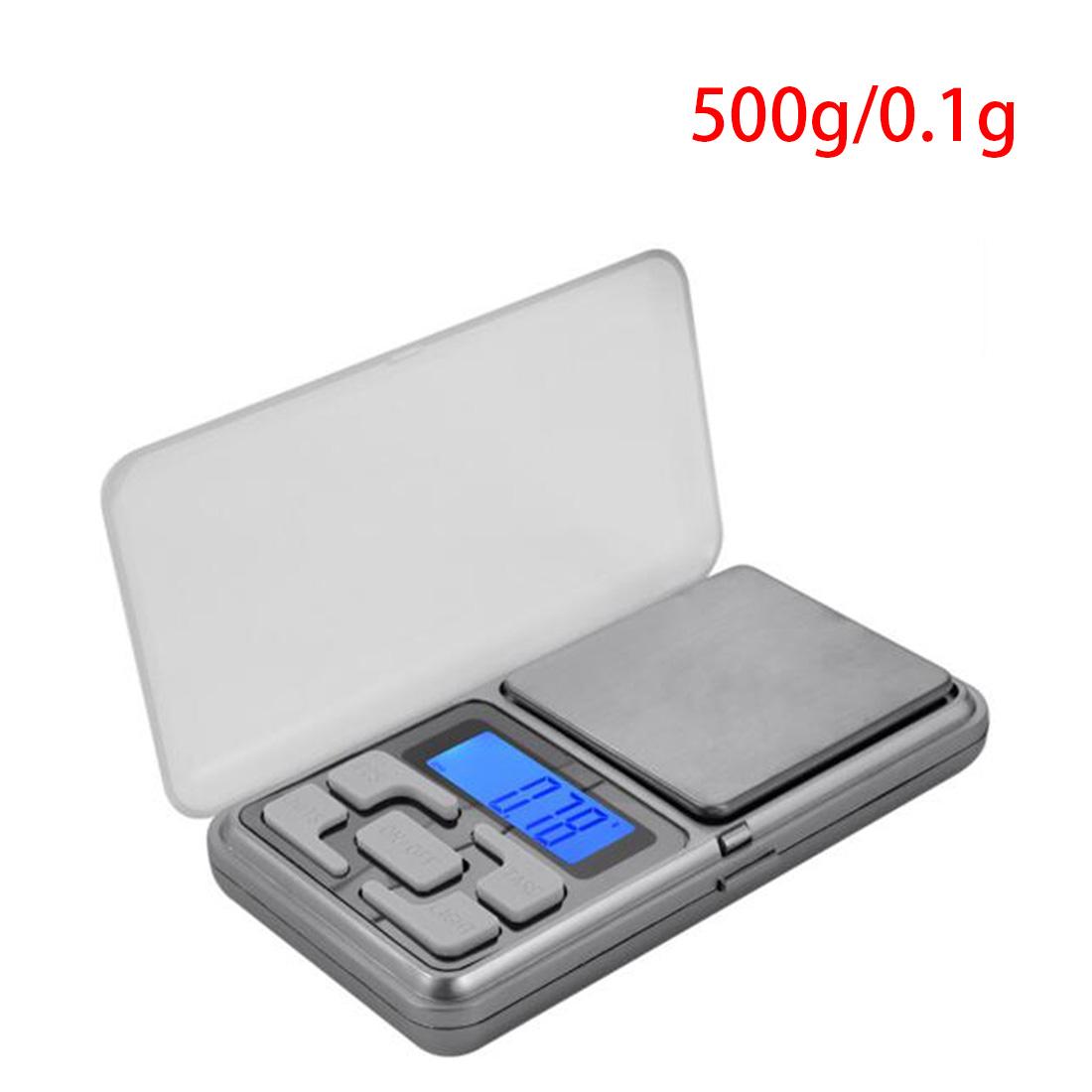Lcd 디스플레이 0.1g x 500g 쥬얼리 무게 디지털 저울 미니 전자 저울 균형 포켓 주방 유용한 도구