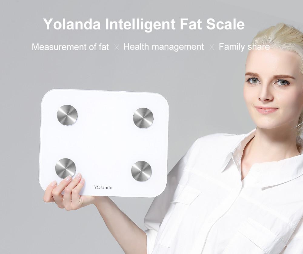 [해외]뜨거운 YOLANDA 소형 스마트 가늠자 가구 지원? ? ???? ?? 4.3 IOS 7.0 Bluetooth4.0 디지털 체지방 무게 계량 스케일 바닥 스케일/Hot YOLANDA Mini Smart Scale Household Support 안드로이드 4.3