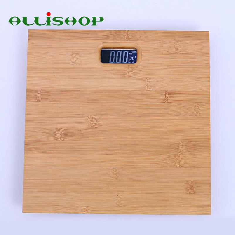 [해외]ALLISHOP 우드 180KG 본체 가정용 저울 33cm * 33cm 스마트 디지털 바닥 저울 - 계량기/ALLiSHOP Wood 180KG body Household Scales 33cm*33cm smart digital floor scales weighin