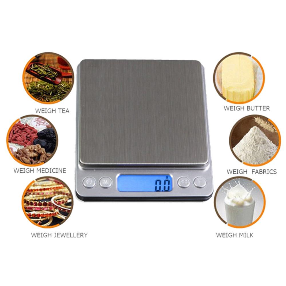 [해외]1000g / 0.1g 디지털 주방 저울 휴대용 전자 포켓 저울 LCD 정밀 우편 쥬얼리 무게 균형 척도/1000g/0.1g Digital kitchen Scale Portable Electronic Pocket Scales LCD Precision Postal