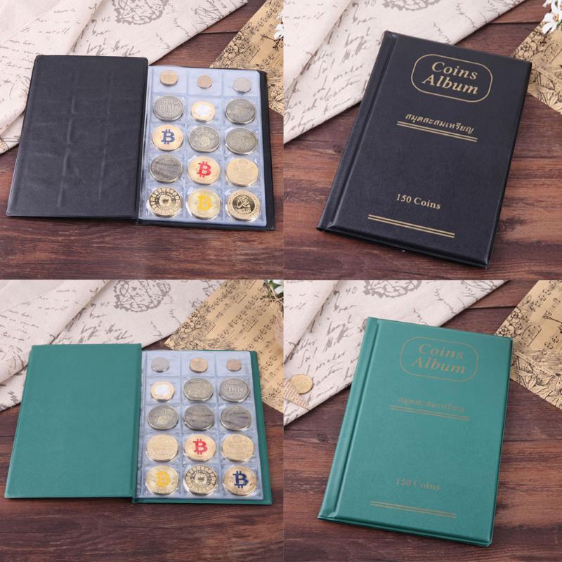 [해외]10 페이지 150 포켓 코인 앨범 코인 홀더 콜렉션 메달리온 배지 코인 보관함 콜렉터 선물 용품/10 Pages 150 Pockets Coin Album Coin Holder Collection Medallions Badges Money Coin Storage