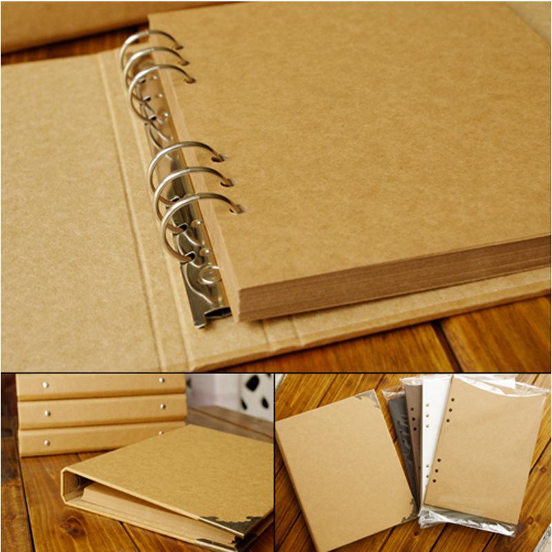 [해외]무료 DIY 액세서리 팩 빈 커버 루스 리프 공예 종이 앨범 수제 DIY 저렴한 사진 앨범 Scrapbooking 웨딩 앨범/Free DIY Accessory Pack Blank Cover Loose-Leaf Craft Paper Album Handmade DI
