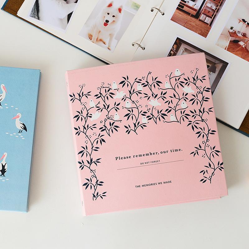 [해외]6 인치 루스 리프 폴라로이드 앨범 웨딩 패밀리 메모리 아기 생일 선물 그림 케이스 보관 컨테이너 Fujifilm Record Albums/6 Inch Loose-leaf Polaroid Album Wedding Family Memory Baby Birthday