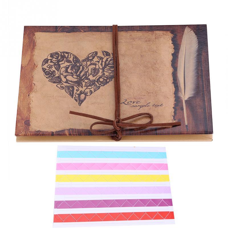 [해외]DIY 앨범 스크랩북 빈티지 스타일 아코디언 접이식 하트 시리즈 공예 종이 핸드 메이드 연인 결혼식을사진 앨범/DIY Album Scrapbook Vintage Style Accordion Foldable Heart Series Craft Paper  Handm
