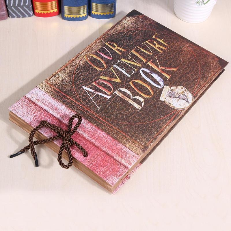 [해외]10inch photo album 우리의 모험 서적 Retro AlbumRope Kraft Paper DIY Lover 사진첩 Scrapbooking 기념/10inch photo album Our Adventure Book Retro AlbumRope Kraft