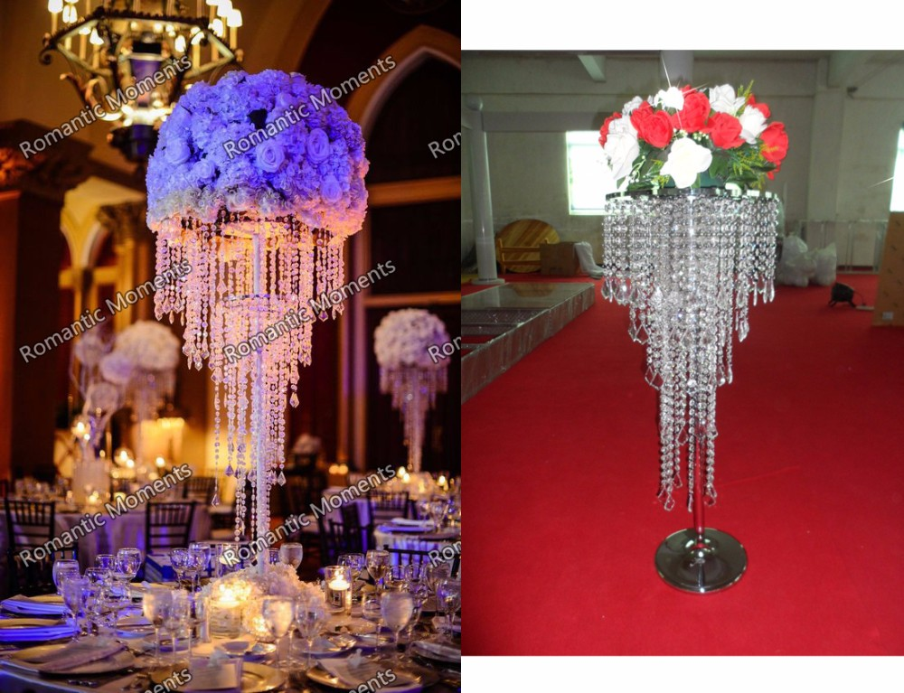 [해외]?결혼식 샹들리에 웨딩 플라워 웨딩 드레스 파티 장식 10pcs / lot/ wedding crystal chandelier wedding flower stand Party decoration10pcs/lot