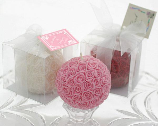 [해외]장미 양초 웨딩 캔들 신부 공예 c 선물 반환 용품