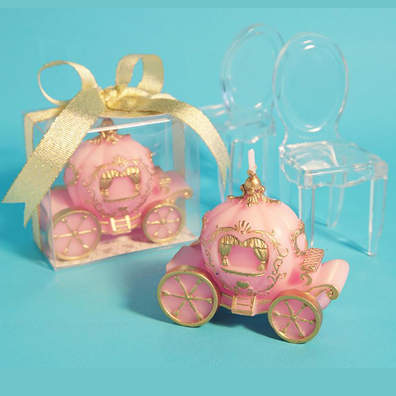 [해외]웨딩 양초 로맨틱 호박 카 생일 촛불 발렌타인 데이 선물 러블리 크리 에이 티브 아트 케익 캔들 파티 어린이 선물/Wedding Candles Romantic Pumpkin Car Birthday Candle Valentine &s Day Gift  Lovely