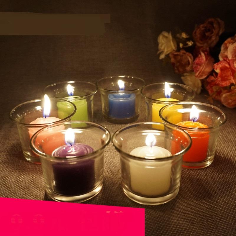[해외]크리 에이 티브 향기로운 생일 결혼식 양초 다채로운 사랑 flameless 양초 케이크 어린이 선물 생일 양초 장식