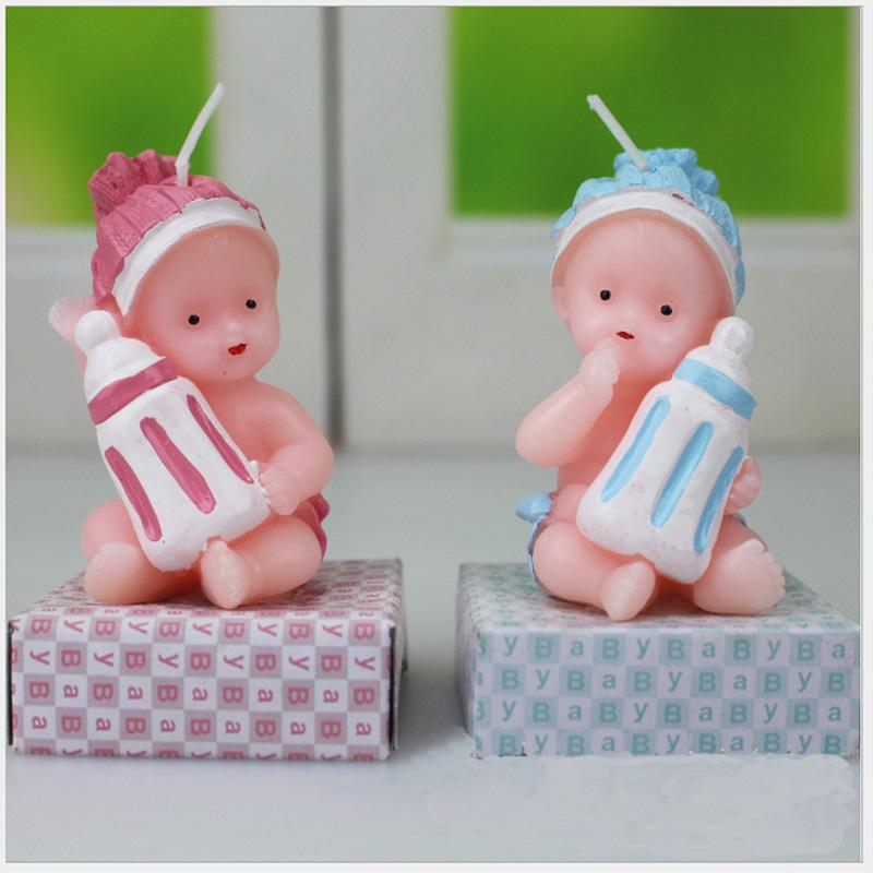 [해외]블루 천사 핑크 컬러 베이비 드레스 보너스 웨딩 생일 파티 용품 보름달 케이크 연기없는 무연 양초 선물/Blue angel Pink Color Baby Dress Full Moon Cake Smoke-Free Flameless Candles For Holiday