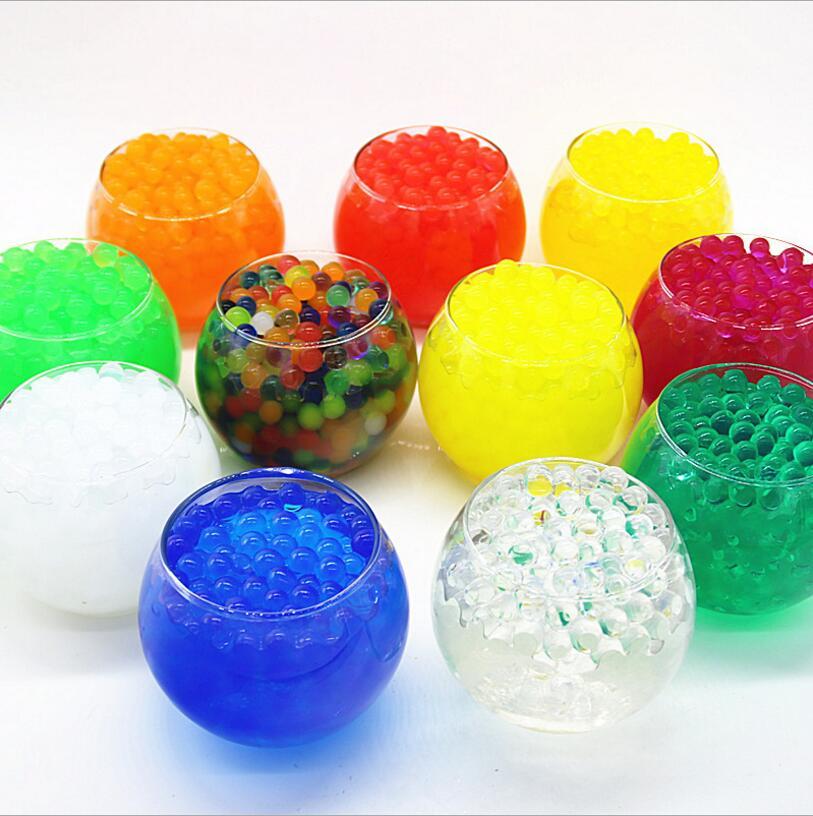 [해외]12bag = 12 색 300pcs / 가방 패션 장식 크리스탈 토양 물 비즈 orbiz 키즈 토이 성장하는 하이드로 젤 젤 공/12bag=12 colors 300pcs/bag Fashion Decorative Crystal Soil Water Beads orb