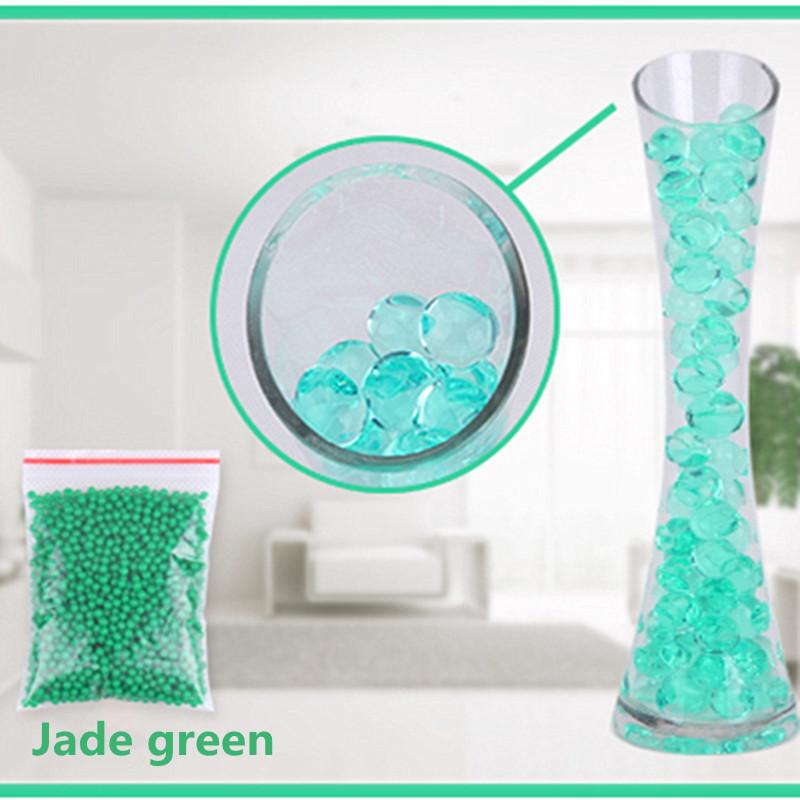 [해외]옥 녹색 색상 1000pcs / 가방 크리스탈 진흙 토양 물 구슬 바이오 젤 볼 꽃 / 잡 초 / Deruction/Jade green color 1000pcs/Bag Crystal Mud Soil Water Beads Bio Gel Ball For Flower