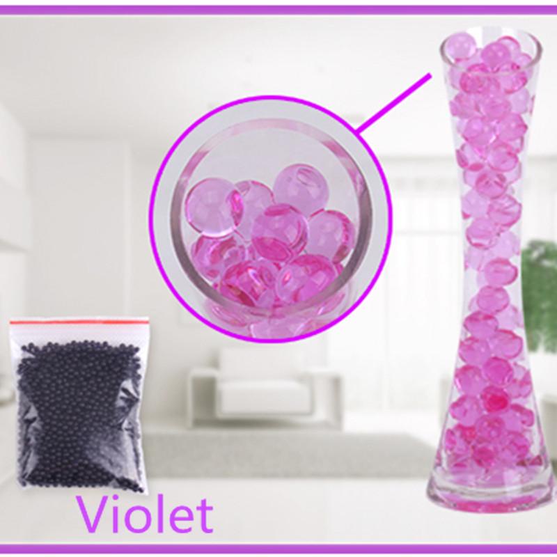 [해외]보라색 100pcs / 가방 진주 모양의 크리스탈 토양 워터 비즈 진흙 성장 매직 젤리 볼 웨딩 홈 장식/Purple color 100pcs/bag Pearl shaped Crystal Soil Water Beads Mud Grow Magic Jelly ball