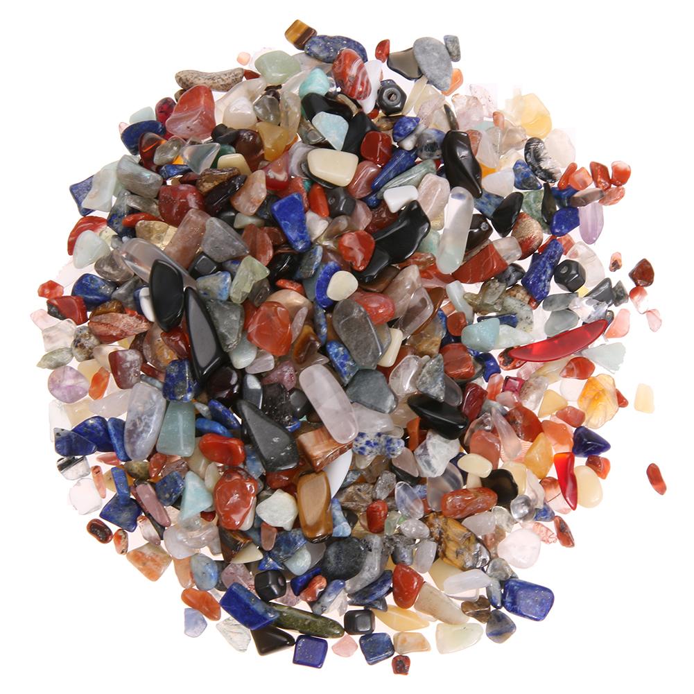 [해외]100g / 가방 다채로운 불규칙한 떨어졌다 돌 자갈 보석 바위 Tumblestones 보석 크리스탈 치유 Reiki 비즈 장식/100g/Bag Colorful Irregular Tumbled Stones Gravel Gemstone Rock Tumbleston