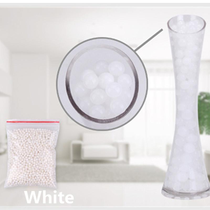 [해외]화이트 색상 1000pcs / lot 진주 모양의 크리스탈 토양 물 구슬 진흙 성장 매직 젤리 볼 웨딩 홈 장식/White color 1000pcs/lot  Pearl shaped Crystal Soil Water Beads Mud Grow Magic Jelly