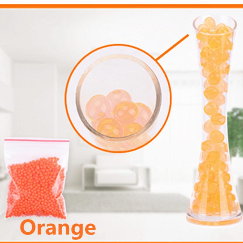 [해외]1000pcs / lot 오렌지 컬러 크리스탈 진흙 토양 물 구슬 바이오 젤 볼 꽃 / 잡 초 / 장식/1000pcs/lot  orange color Crystal Mud Soil Water Beads Bio Gel Ball For Flower/Weeding/D