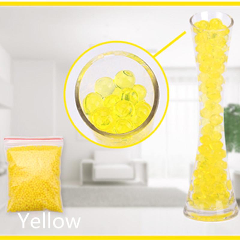[해외]노란색 크리스탈 토양 1000 조각 마법 진흙 물 구슬 진주 성장 젤리 볼 결혼식 홈 장식 공예품 이벤트 용품/Yellow Crystal Soil 1000 Pieces Magic Mud Water Beads Pearl Grow Jelly Balls Wedding