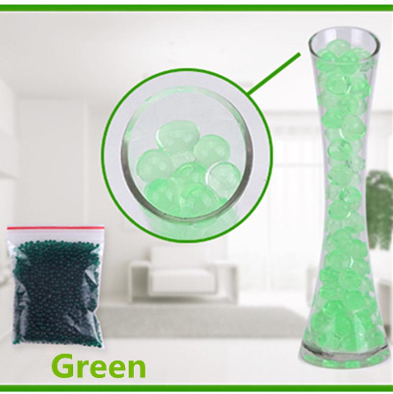 [해외]녹색 색상 진주 모양의 크리스탈 토양 물 구슬 진흙 성장 매직 젤리 볼 홈 장식 아쿠아 토양 Hot 1000pcs / 설정/green color Pearl Shaped Crystal Soil Water Beads Mud Grow Magic Jelly Balls