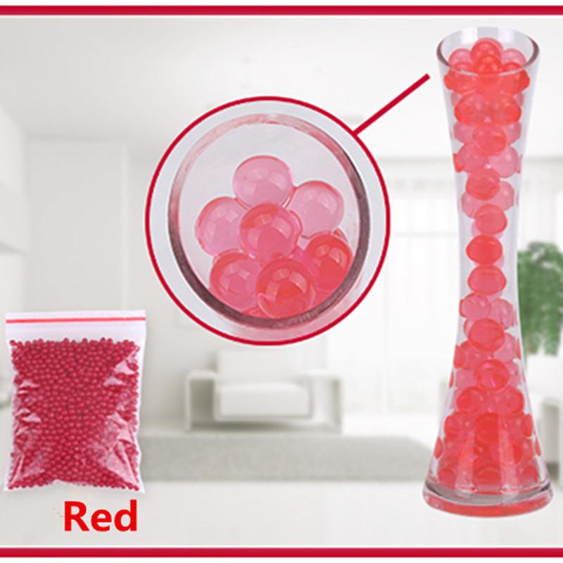 [해외]1000pcs 레드 컬러 워터 플랜트 플라워 젤리 매직 크리스탈 토양 진흙 물 진주 가족 호텔 바 젤 비즈 공/1000pcs Red Color Water Plant Flower Jelly Magic Crystal Soil Mud Water Pearls Gel B
