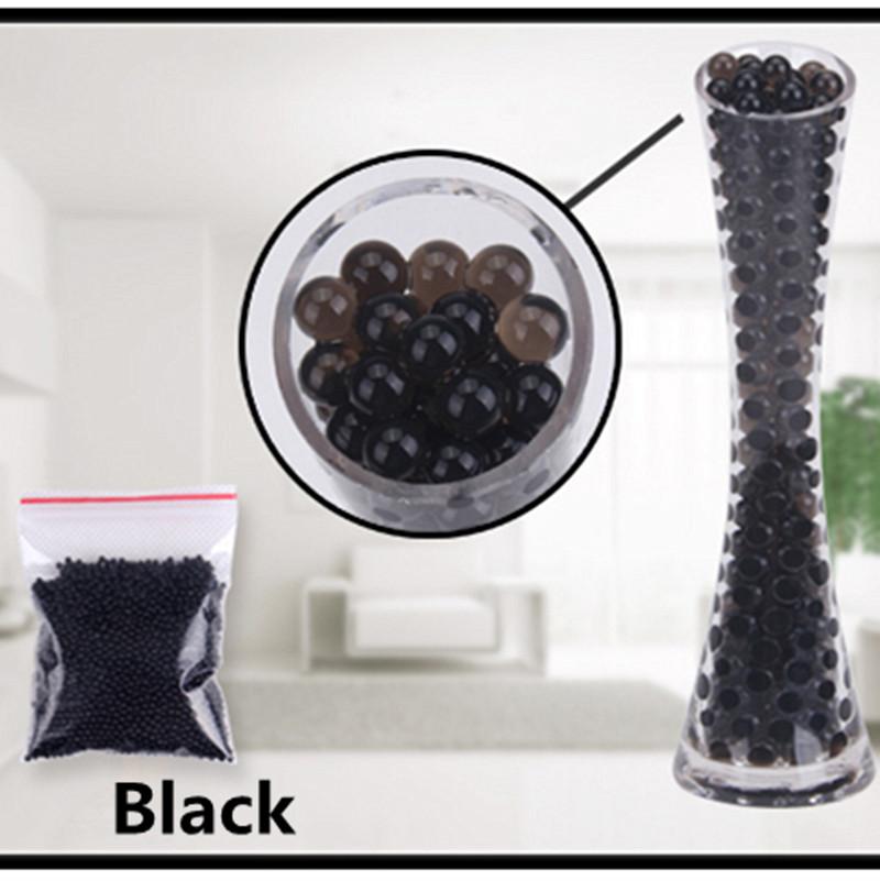 [해외]1000pcs 블랙 컬러 워터 플랜트 플라워 젤리 크리스탈 토양 진흙 물 진주 젤 비즈 볼 비즈 장식 꽃병 크리스탈/1000pcs Black Color  Water Plant Flower Jelly Crystal Soil Mud Water Pearls Gel B