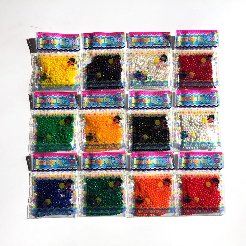 [해외]12bags / lot 2.5-3mm 진주 모양의 크리스탈 토양 물 구슬 진흙 성장 매직 젤리 볼 결혼식 유리 병없이 홈 장식/12bags/lot 2.5-3mm Pearl Shaped Crystal Soil Water Beads Mud Grow Magic Jel