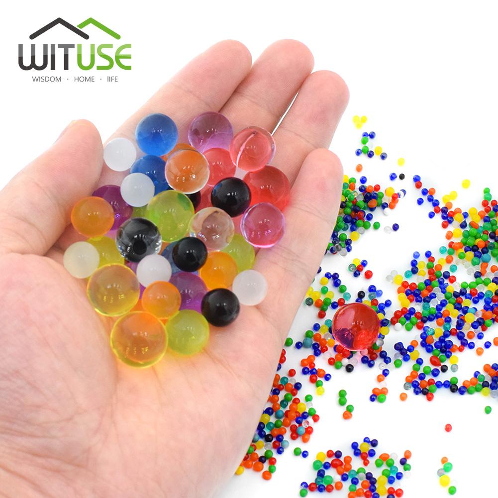 [해외]10000pcs 6 mm 식물 크리스탈 토양 진흙 성장 물 구슬 하이드로 겔 매직 젤 젤리 볼 오르비스 성장하는 물 꽃병 홈 장식/10000pcs 6mm Plant Crystal Soil Mud Grow Water Beads Hydrogel Magic Gel J