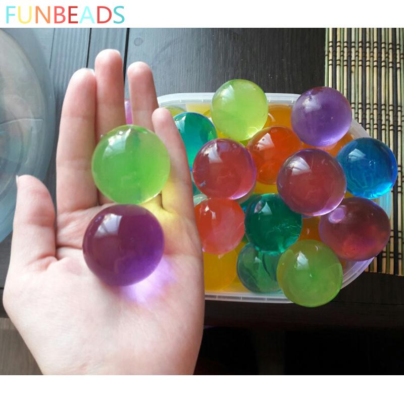 [해외]50pcs / lot 10-12mm 10 색 Orbizi 물 구슬 매직 물 공을 성장 크리스탈 토양 젤리 공을 하이드로 젤 홈 장식/50pcs/lot 10-12mm 10 Colors Orbizi Water Beads Magic Growing Up Water Ba