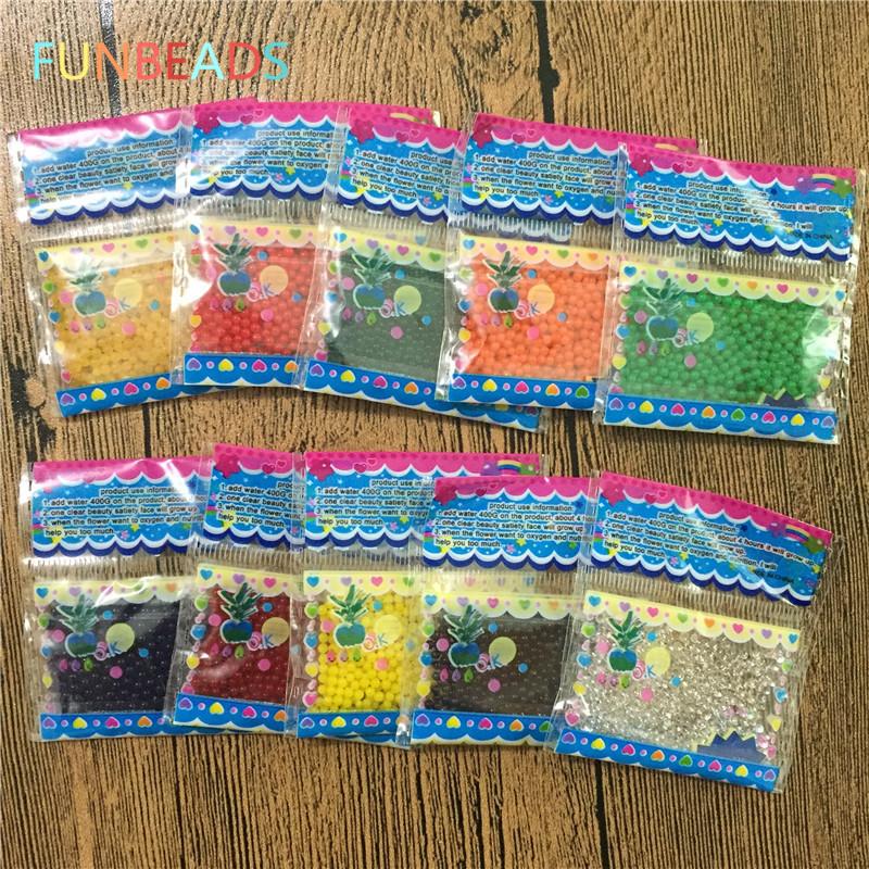 [해외]20bags / lot 1.5-2mm 다채로운 크리스탈 토양 진흙 Orbiz 하이드로 젤 아이 장난감 물 구슬 성장 물 볼 홈 장식/20bags/lot 1.5-2mm Colorful Crystal Soil Mud Orbiz Hydrogel Gel Kids Toy