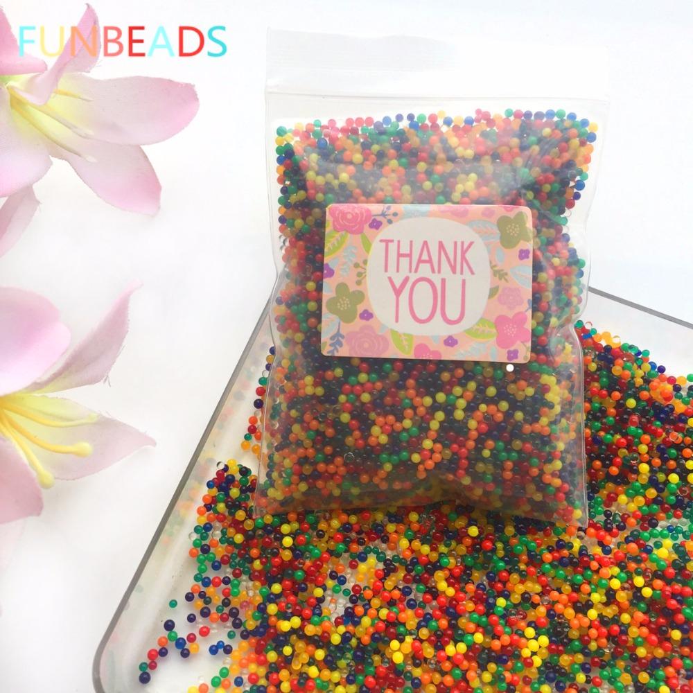 [해외]10000pcs / bag 크리스탈 토양 하이드로 젤 젤 폴리머 물 비즈 꽃 / 웨딩 / 장식 메이슨 성장 물 공/10000pcs/bag Crystal Soil Hydrogel Gel Polymer Water Beads Flower/Wedding/Decorati