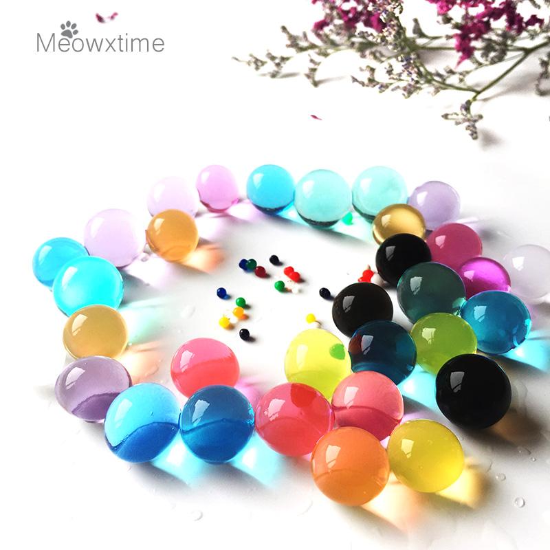[해외]1001 입자 / lot2.5-3 물 구슬 진주 모양의 크리스탈 토양 물 구슬 진흙 성장 매직 젤리 볼 결혼식 홈 장식 하이드로 젤/1001 Particles/lot2.5-3 water beads Pearl shaped Crystal Soil Water Bead