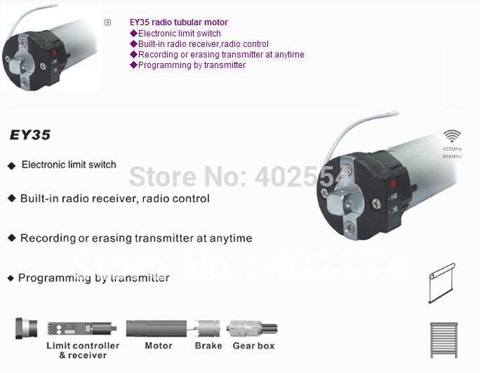 [해외]관형 모터, Dia 35mm, 120V 60Hz, 230V 50Hz/Tubular motor, Dia 35mm,120V 60Hz, 230V 50Hz