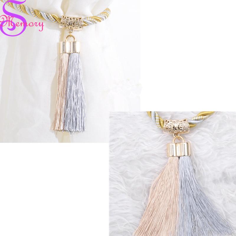 [해외]50cm 유럽 커튼 술집 Tieback 클립 버클 타이 뒤로 스트랩 홀더 액세서리 홈 장식/50cm Europe Curtain Tassel Tieback Clips Buckle Tie Back Straps Holders Accessories Home Decor