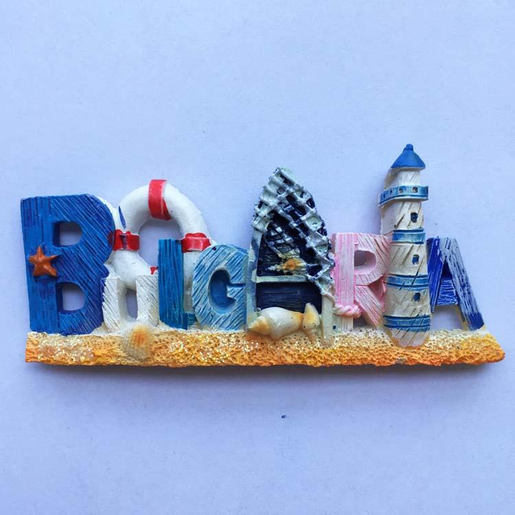 [해외]불가리아, 자석 스티커를 기념하기 위해 동유럽 여행의 편지 투어 컬렉션의 창조의 아이디어/Bulgaria, the idea of the creation of the letter tour collection of Eastern Europe travel to com