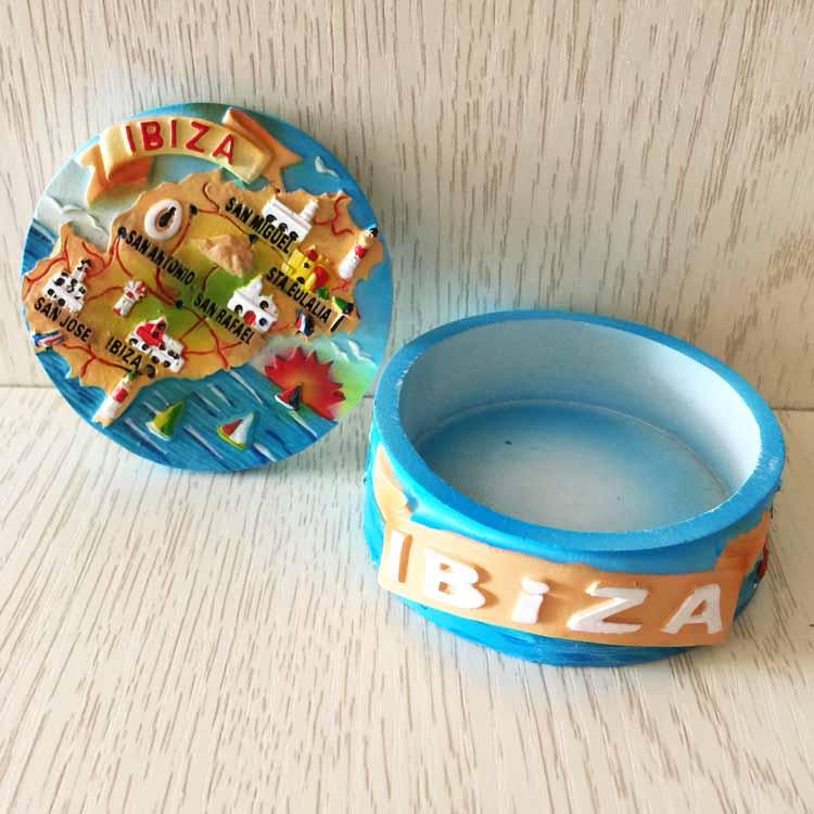 [해외]스페인이 비자 관광 기념품 창조적 인 손 보석 상자 보석 상자 장식 자 없음 자석/Spain Ibiza tourism souvenirs creative hand jewelry box jewelry box decorator No Magnets