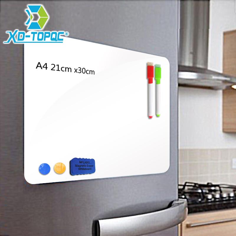 [해외]XINDI A4 21 * 30cm 부드러운 냉장고 자석 가동 가능한 소형 Whiteboard 애완 동물 필름 전보 상자 자석 주 냉장고 메모 패드 FM01/XINDI A4 21*30cm Soft Fridge Magnets Flexible Mini Whiteboa