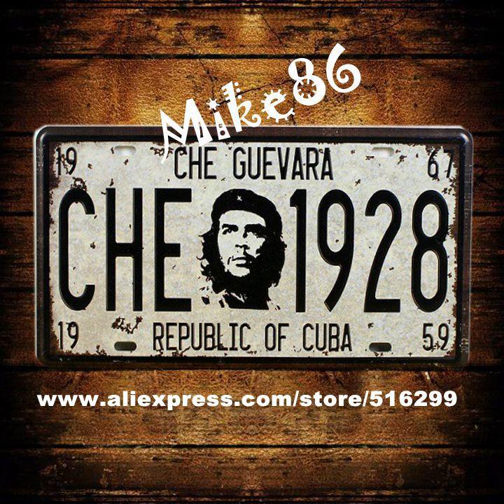 <span style=''>[해외][Mike86] CHE GUEVARA 1928 년 자동차 라이센스 판 빈티지 아트 ..</span>