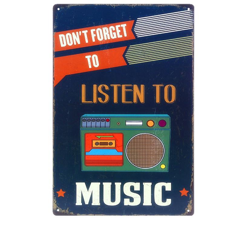 <span style=''>[해외]20x30CM 음악 HD 들어 빈티지 금속 주석 징후 크리 에이 티브 선물 홈 인테..</span>