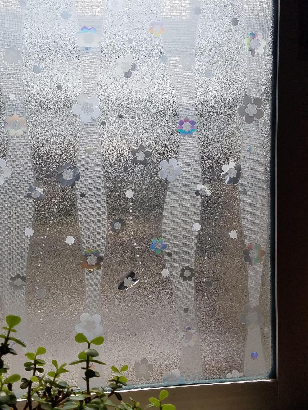 [해외]2m 1pc 90cm 너비 최고 품질 정적 고정 크리스탈 스테인드 정전기 스크럽 창 유리 슬라이딩 도어 필름 유리 스티커/2m 1pc 90cm width top quality static cling crystal Stained Electrostatic scrub