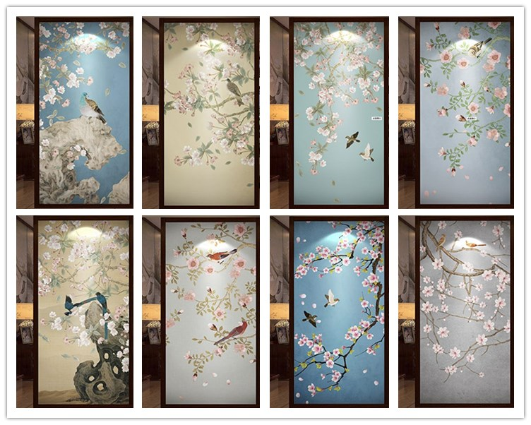 [해외]유리 문 옷장 가정 장식을주문 크기 창 필름 불투명 한 서리로 덥은 정적 달라 붙는 새/custom size window film for glass door wardrobe home decor Opaque frosted static cling Birds