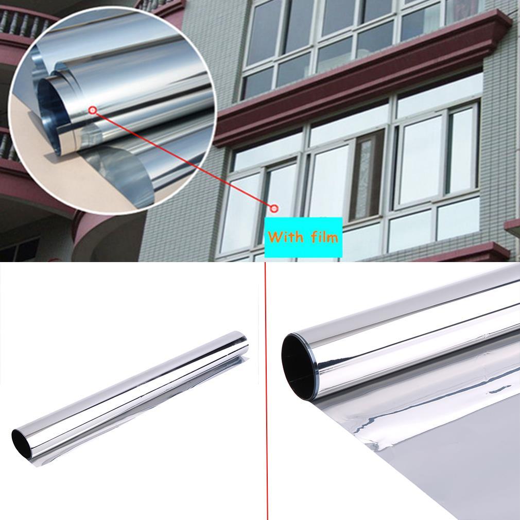 [해외]1 x 미러 실버 20 % 태양 반사 창 필름 프라이버시 색조 50cm x 2m 신착/1 x Mirror Silver 20% Solar Reflective Window Film Privacy Tint 50cm x 2m new arrival