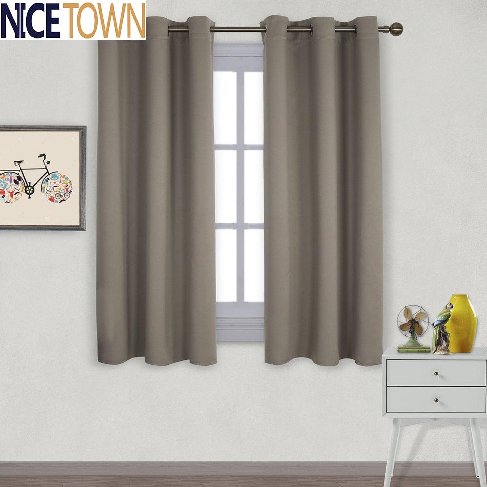 [해외]1 조각 단색 침실 현대 창 커튼 용 열 절연 정전 CurtainGrommet ...
