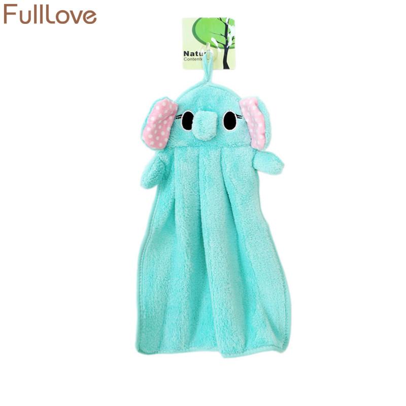 [해외]FullLove 5PCS / Set Microfiber Kids 욕실 용 핸드 타월 귀여운 동물 흡수성 주방용 주방 수건 청소용 천/FullLove 5PCS/Set Microfiber Kids Cartoon Hand Towels for Bathroom Cute
