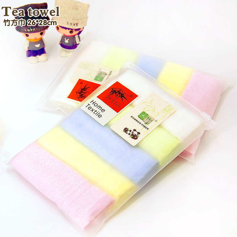 [해외]새로운 아기 수건 5 개 / Lot 26 * 28cm 대나무 핸드 타올 베이비 페이스 크로스 플랫 염색 어린이 턱받이 부드러운 수건/New  Baby Towel  5 pieces/ Lot   26*28cm Bamboo Hand Towel Baby Face Clo