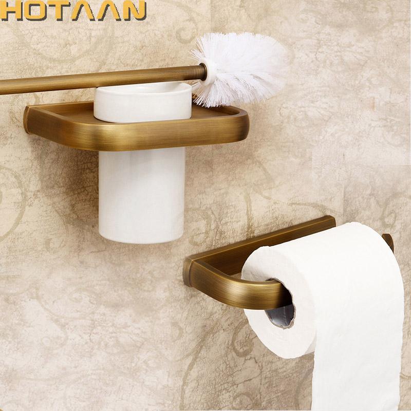 [해외]2017 , 고체 황동 욕실 액세서리 세트, 화장실 브러시 홀더, 종이 홀더, 욕실 세트, 골동품 황동 HT - 810400-2/2017 Free shipping,solid brass Bathroom Accessories Set,toilet brush holde