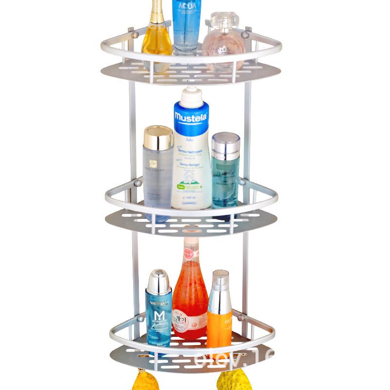 [해외]욕실 액세서리에 대 한 1PC 벽 마운트 선반 목욕 샤워 샴푸 홀더 바구니 다기능 튼튼한 코너 욕실 랙/1PC Wall Mounted Shelves for Bathroom Accessories Bath Shower Shampoo Holder Basket Mult