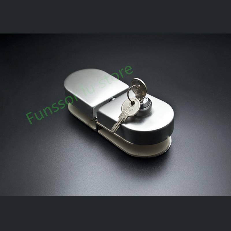 [해외]고품질, 유리문 잠금 장치 잠금 장치 / 잠금 장치, 견고한 안전 장치, 10-12mm 유리, 드릴링 없음, 단면 잠금 장치, 프레임리스 유리 도어/High quality,Glass Door Latches Lock/boltkey,Rugged Safety,10-1