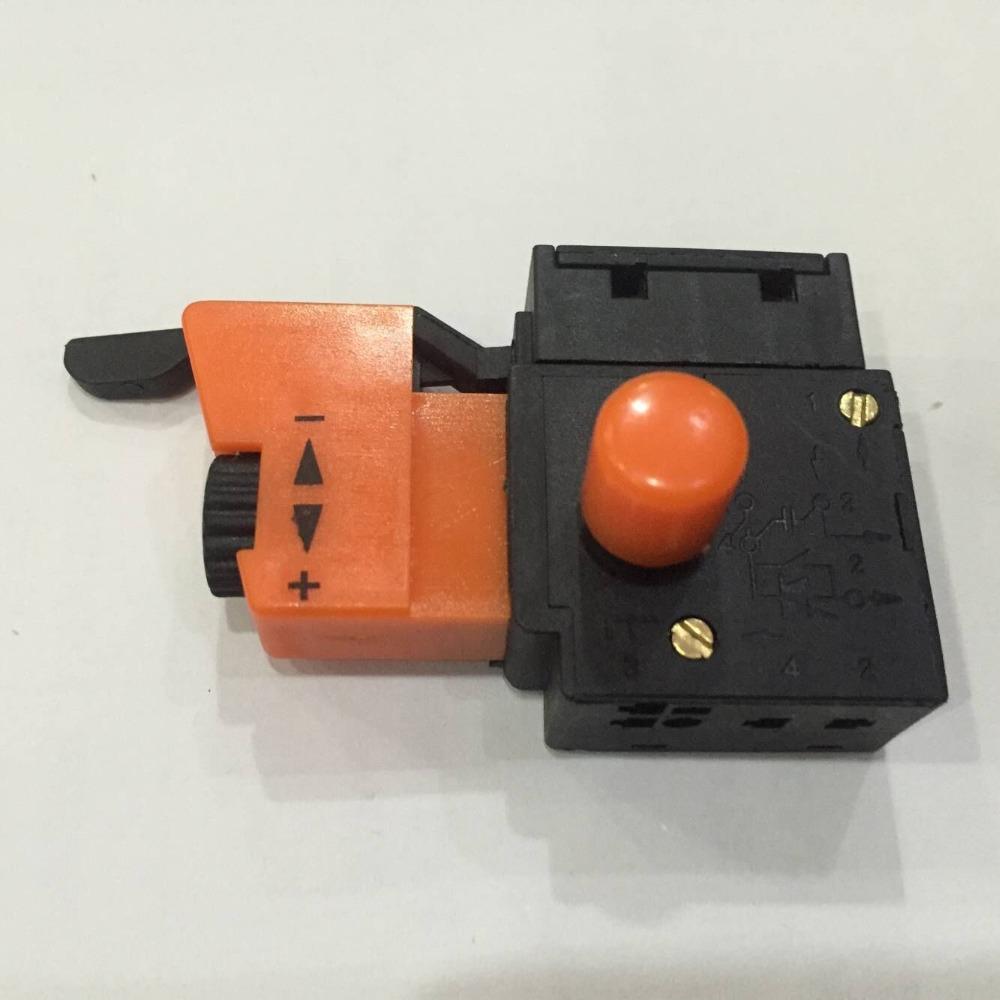 [해외]5E4 AC 250V 4A 속도 제어 잠금 ON 트리거 스위치 전기 드릴 용 SPST/5E4 AC 250V 4A Speed Control Lock On Trigger Switch SPST for Electric Drill