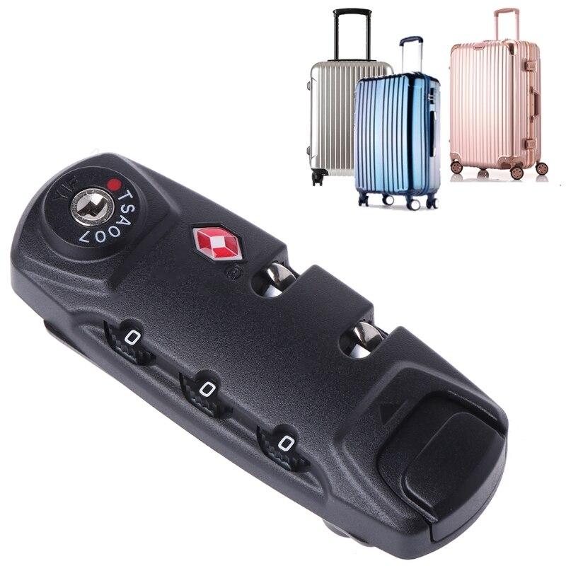 [해외]TSA 보안 3 자리 조합 자물쇠 잠금 수하물 여행 코드 잠금/TSA Secure 3 Digit Combination Padlock Lock Luggage Suitcase Travel Code Lock
