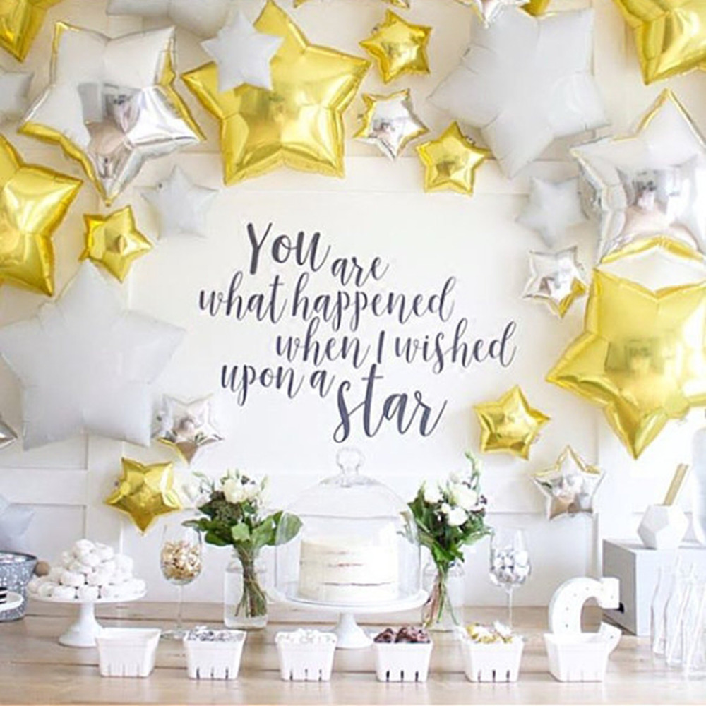 [해외]12pcs / lot 18inch 호일 스타 풍선 10inch 골드 풍선 생일 파티 실버 골드 globos 공/12pcs/lot 18inch  foil star balloons  10inch  gold balloons Birthday party silver go